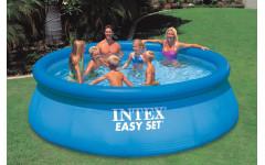 Надувной бассейн с надувным верхним кольцом 396х84см Intex 28143