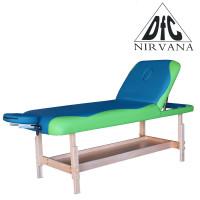 Массажный стационарный стол Dfc Nirvana, Superior2, дерев. ножки, 2 секции, цвет бирюз.с зелен.