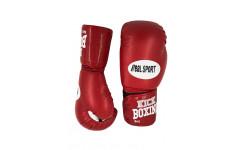 Перчатки для кикбоксинга REALSPORT RS108 8 унций, красный