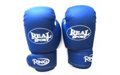 Перчатки  боксерские REALSPORT 12 унций, синий