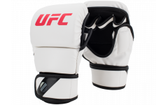 Перчатки MMA для спарринга 8 унций (Белые S/M) UFC