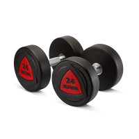 Гантель 36 кг ZIVA серии ZVO резиновое покрытие красная вставка